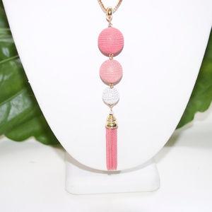 Necklace Pendant 3 Balls Pink French Fashion Jewel